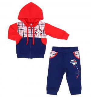Комплект джемпер/брюки  Морские игры, цвет: красный/синий Leader Kids