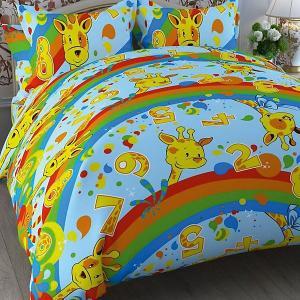 Детское постельное белье 1,5 сп , Жираф Letto. Цвет: оранжевый