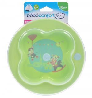 Тарелка неглубокая  лавровый лист С крышкой, цвет: зеленый Bebe confort