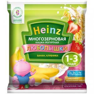 Каша  молочная многозерновая йогуртная с бананом и клубникой 12 месяцев 30 г Heinz