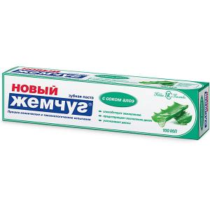 Зубная паста Новый Жемчуг С соком алоэ, 100 мл Невская косметика