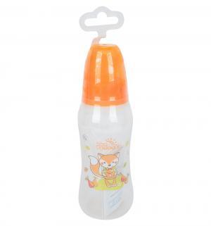 Бутылочка  для кормления полипропилен с рождения, 250 мл, цвет: оранжевый Мир Детства