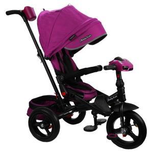 Трехколесный велосипед  New Leader 360° 12x10 AIR Car, цвет: ягодный/пурпурный Moby Kids