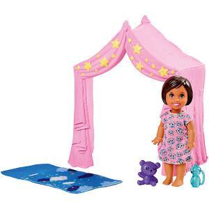 Игровой набор с мини-куклой Barbie Скиппер няня Игра малышом Mattel