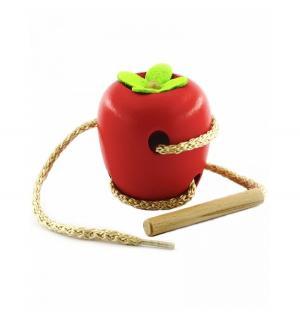 Шнуровка  Яблоко Мир Деревянных Игрушек