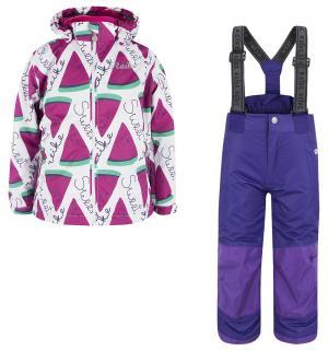 Комплект куртка/полукомбинезон  Арбуз, цвет: белый/фиолетовый Reike