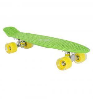 Скейтборд  S-2206E, цвет: зеленый Leader Kids