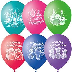 Воздушные шары  С днём рождения. Зверушки-игрушки 50 шт., пастель + декоратор Latex Occidental