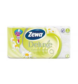 Туалетная бумага 3-х слойная ромашка  Deluxe, 8 шт Zewa