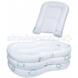 Набор надувная ванночка и пеленальный коврик в чехле Bebe Confort