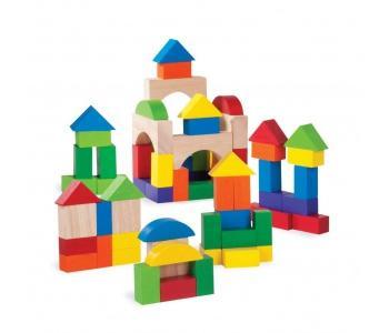 Деревянная игрушка  Цветные кубики 75 шт. Wonderworld