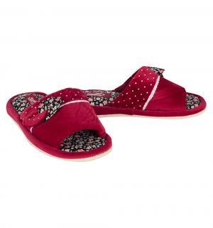 Тапочки , цвет: красный Effa
