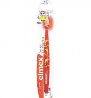 Зубная щетка  Elmex детская, цвет: красный Colgate