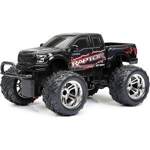 Машинка  1:18 РУ Chargers Truck черная New Bright. Цвет: черный