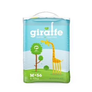 Трусики-подгузники  Giraffe, р. 3, 6-10 кг, 56 шт Lovular