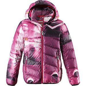 Куртка Senja  для девочки Reima. Цвет: розовый