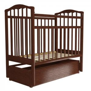 Детская кроватка  Золушка-6 маятник продольный с ящиком Агат