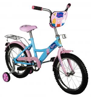 Детский велосипед  Peppa Pig, цвет: розовый/синий Navigator