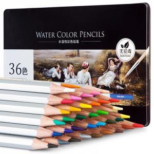 Карандаши цветные акварельные в металлической коробке Nuevo 36 цветов Deli