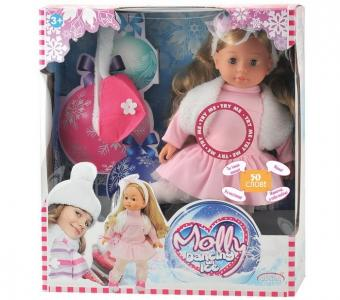 Кукла Молли-Фигуристка с аксессуарами 40 см Dimian