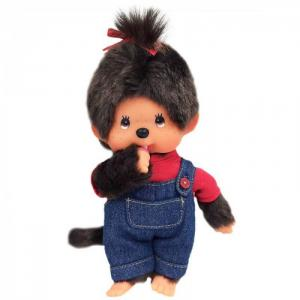 Мягкая игрушка  Девочка в комбинезоне и футболке 20 см Monchhichi