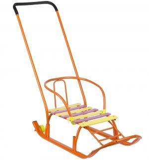 Санки  Мишутка 2, цвет: оранжевый Galaxy