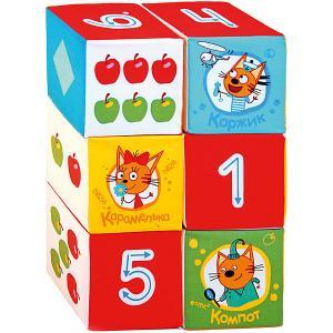 Игрушечные кубики Miakishi Три Кота, математика Мякиши. Цвет: разноцветный