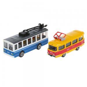 Набор машин  Городской транспорт, 2 шт. 7.5 см Технопарк