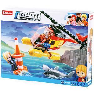 Конструктор  Пляжные спасатели: Помощь с вертолёта, 149 деталей Sluban. Цвет: разноцветный