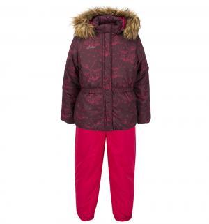 Комплект куртка/полукомбинезон  Nada, цвет: бордовый Luhta
