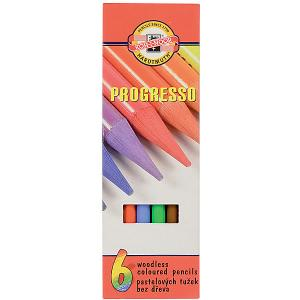 Набор цветных карандашей KOH-I-NOOR Progresso, 6 цветов. Цвет: красный
