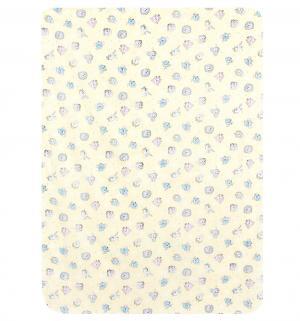 Пеленка 80 х 110 см, цвет: желтый Звездочка