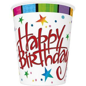 Стаканы  Happy Birthday 250 мл., 8 шт Susy Card