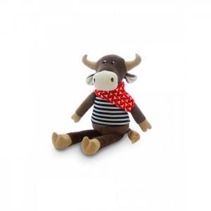 Мягкая игрушка  Бык Гаврила в тельняшке 23 см Maxitoys