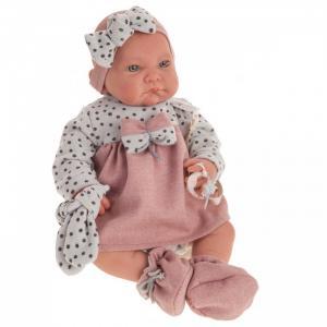 Кукла Реборн Грегория в розовом 40 см Munecas Antonio Juan