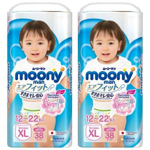 Трусики-подгузники  Megabox, р. 4+, 12-17 кг, 76 шт Moony