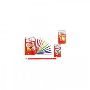 Трехгранные цветные карандаши, 12 цветов в металлическом кейсе Schreiber