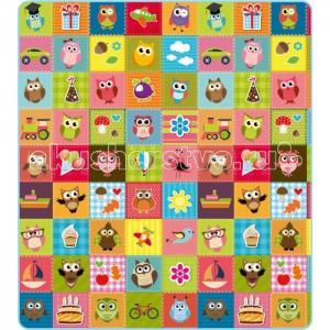 Игровой коврик  Совята и Мир животных двусторонний 200х180х0.5 см Mambobaby