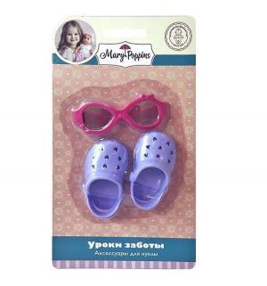 Набор аксессуаров для кукол  Шлепанцы и очки, Mary Poppins