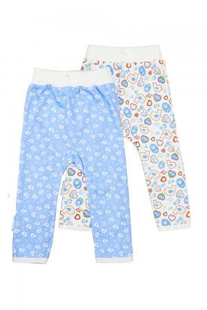 Комплект брюки 2 шт  Лавандовый пряник, цвет: белый/сиреневый Lucky Child