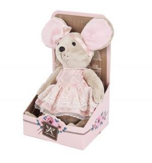 Мягкая игрушка  Lady mouse Мышка шарнирная Зефирка в розовом платье Angel Collection
