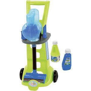 Тележка для уборки Ecoiffier с пылесосом и аксессуарами écoiffier