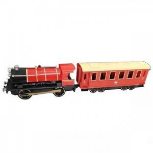 Паровоз с вагоном  Teamsterz City красный 30 см HTI