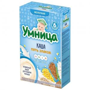 Каша  молочная 5 злаков с 6 месяцев 200 г Умница