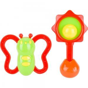 Разивающая игрушка  Набор погремушек салатово-оранжевые S+S Toys