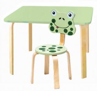 Комплект детской мебели Мордочки с салатовым столиком Polli Tolli