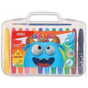 Гелевые мелки  Color Kids, 12 цветов Deli. Цвет: разноцветный