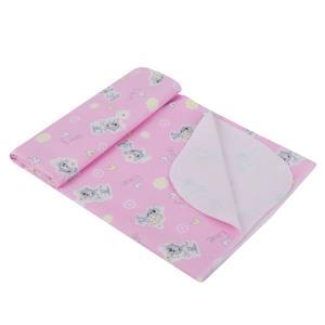 Пеленка 80 х 110 см, цвет: розовый Звездочка