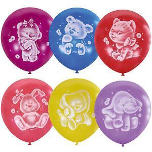 Воздушные шары  Плюшевые друзья 50 шт., пастель + декоратор Latex Occidental