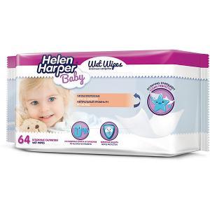 Детские влажные салфетки  Baby 64 шт Helen Harper. Цвет: разноцветный